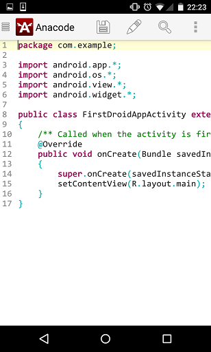 Anacode IDE